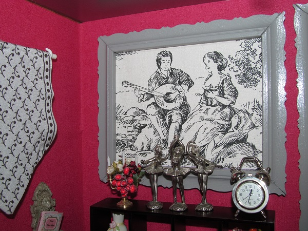 la chambre a la toile de jouy. Black Bedroom Furniture Sets. Home Design Ideas